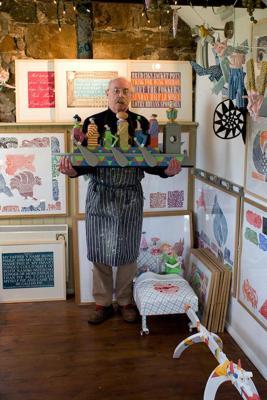 David Jones at his studio in Beaumaris