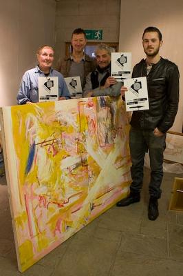 Artists at the End of the Arrow (L to R) Phillipa Jacobs, Laurie Kitchen, Mick Brown and Chris Higson.