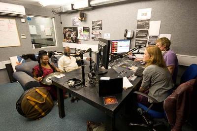 Be like Laura Swinton & Tom Powell at 'StormFM' Bangor Student Radio