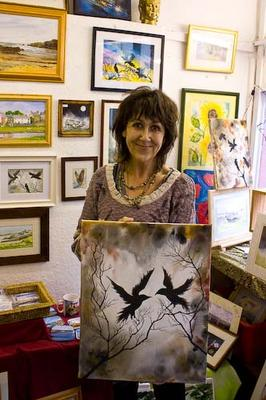 Jacquie Myrtle, watercolourist, acrylics, oils and mixed media at Artspace, Holyhead