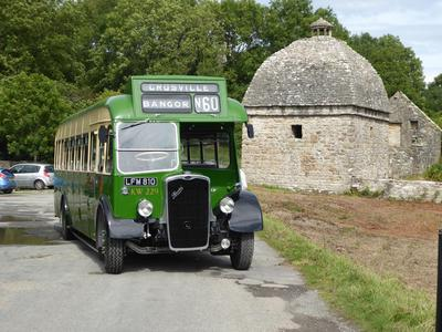 Old Crosville bus, Penmon Priory, Anglesey, 2017