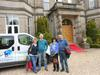 Christine, Steve, Chris and Tom arrive at Tre-Ysgawen Hall hotel