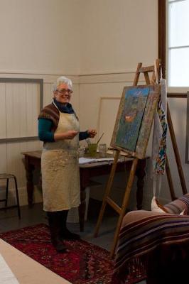 Helen Lopez at her studio/gallery in Llanedwen, Llanfairpwll