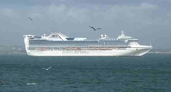 Cruise Ship at Holyhead