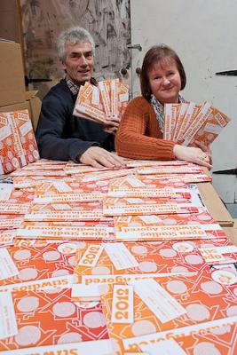 Mike Gould, Heather Evans with Anglesey Arts Guide